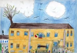 La scuola in un disegno di Stefano